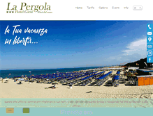 Tablet Preview of hotelpergola.it